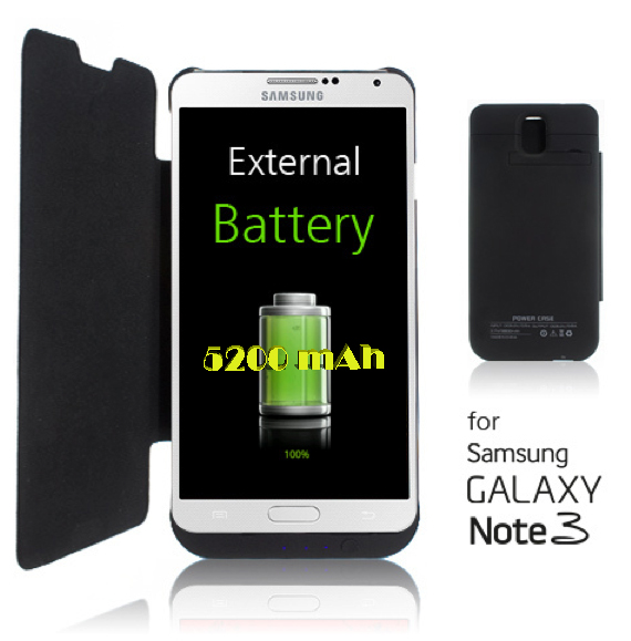 Battery Case for Galaxy Note 3 N9000 5200 mAh