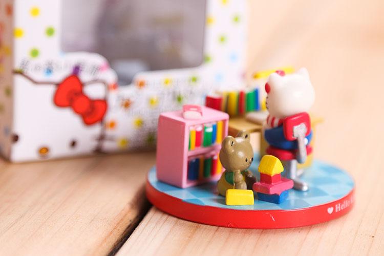 ชุดเซ็ตสะสมตุ๊กตาโมเดลเฮลโหลคิตตี้ 5 ชิ้น Hello Kitty figure model set of Day life size about 5*5 cm.