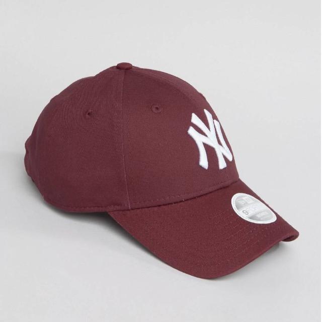 หมวก NEW ERA 9Forty Cap NY สีแดง เบอร์รี่