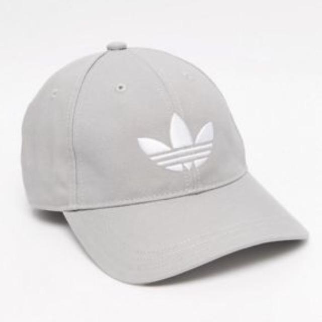 adidas Originals Trefoil Cap In Gray