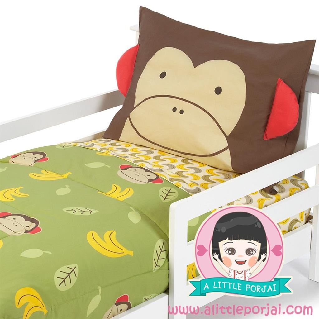ชุดผ้าปูที่นอน 4 ชิ้น ลายลิง