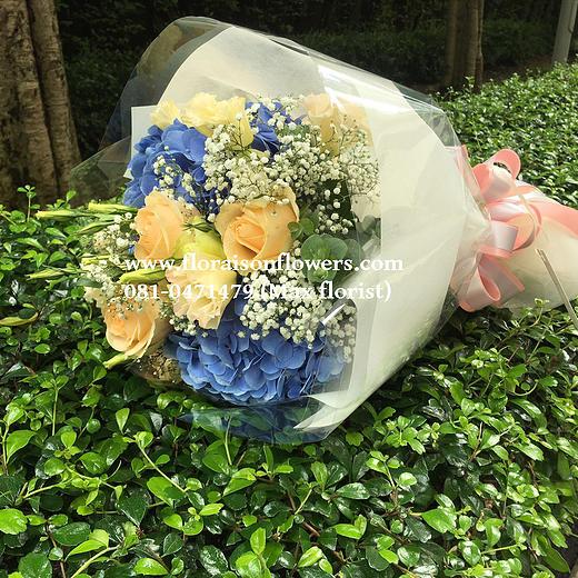 ช่อดอกไม้ บลูพีช (M)