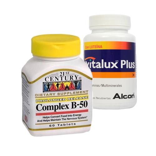 21st Century, B-50 Complex, 60 Tablets + Vitalux Plus 30s