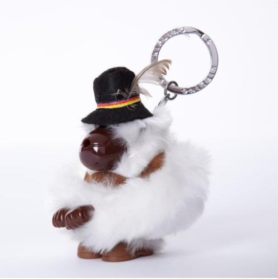 Kipling Germany monkey keychain มาพร้อมกล่องพลาสติกใส ขนาด 4x3.25x2.25 นิ้ว