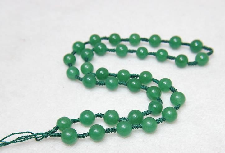 สร้อยคอหยก Tanglin สีเขียวมรกต