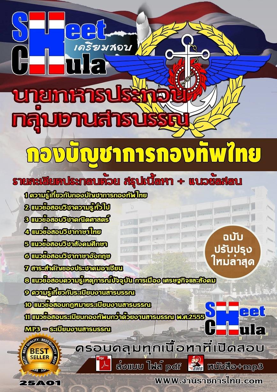 แนวข้อสอบกลุ่มงานสารบรรณ กองบัญชาการกองทัพไทย