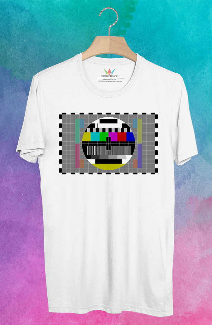 BP44 เสื้อยืด Pattern TV #3