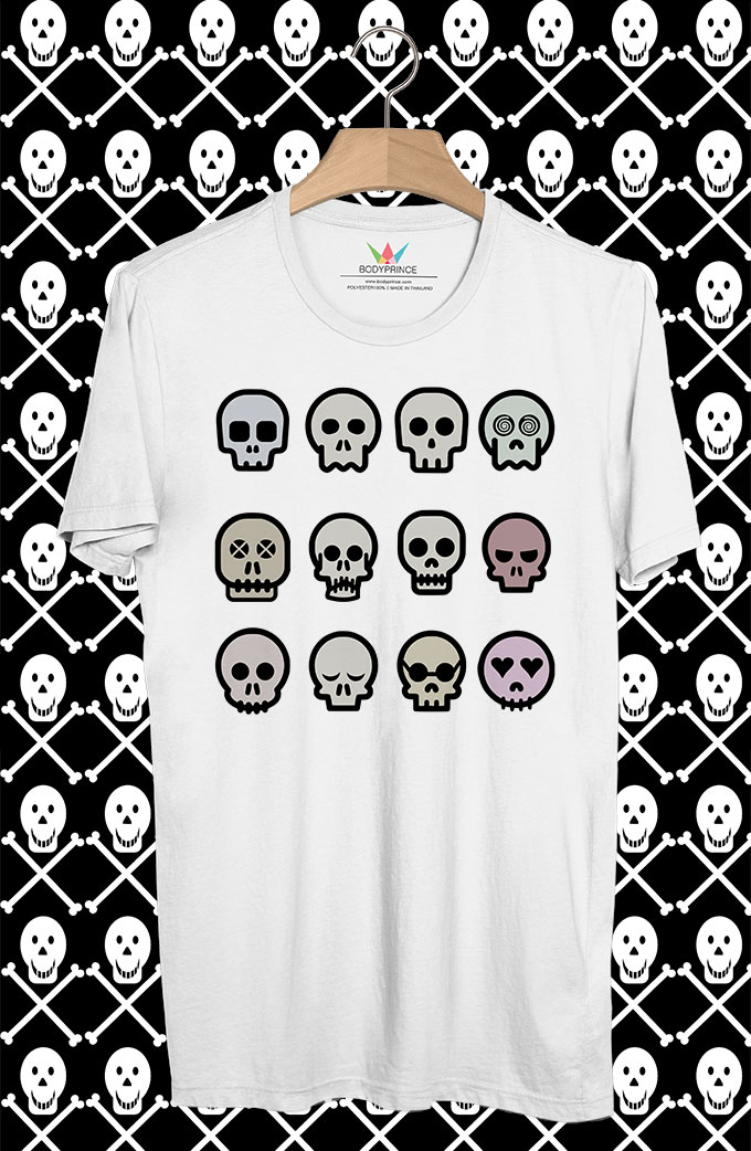 BP18 เสื้อยืด 12Skull