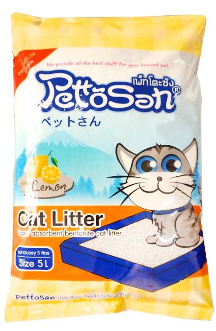 ทรายแมว Pettosan กลิ่นเลมอน