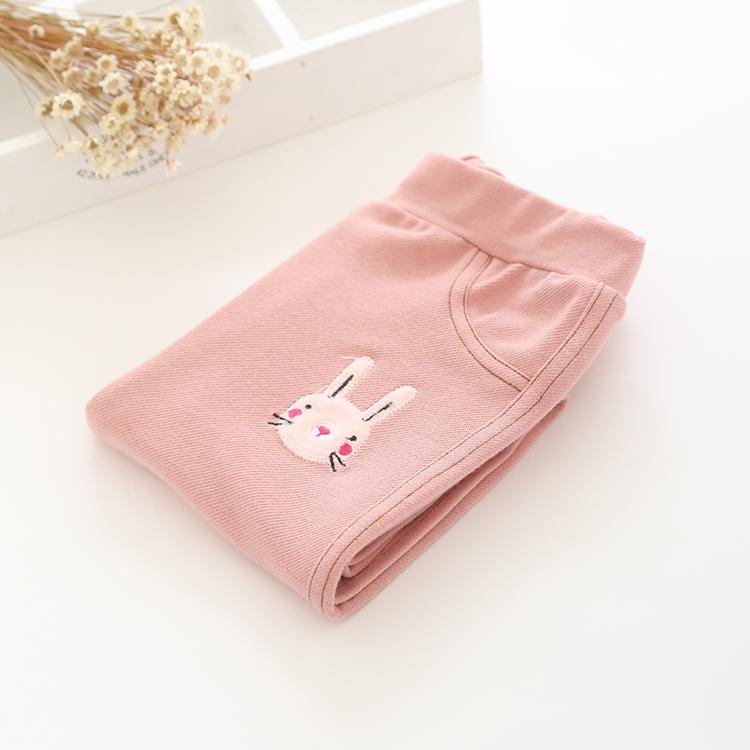W030 : กางเกงขายาวสีชมพูปักลายกระต่าย (2,3,4,5,6)