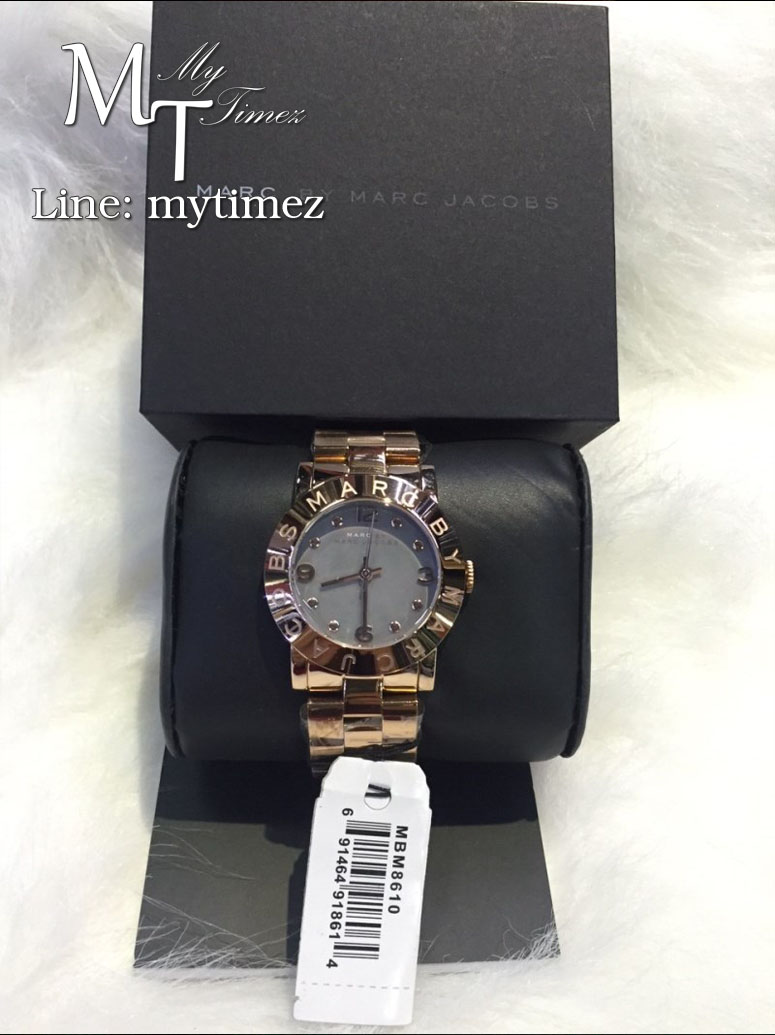 MARC BY MARC JACOBS Women's Amy Mother of Pearl Grey Dial MBM8610