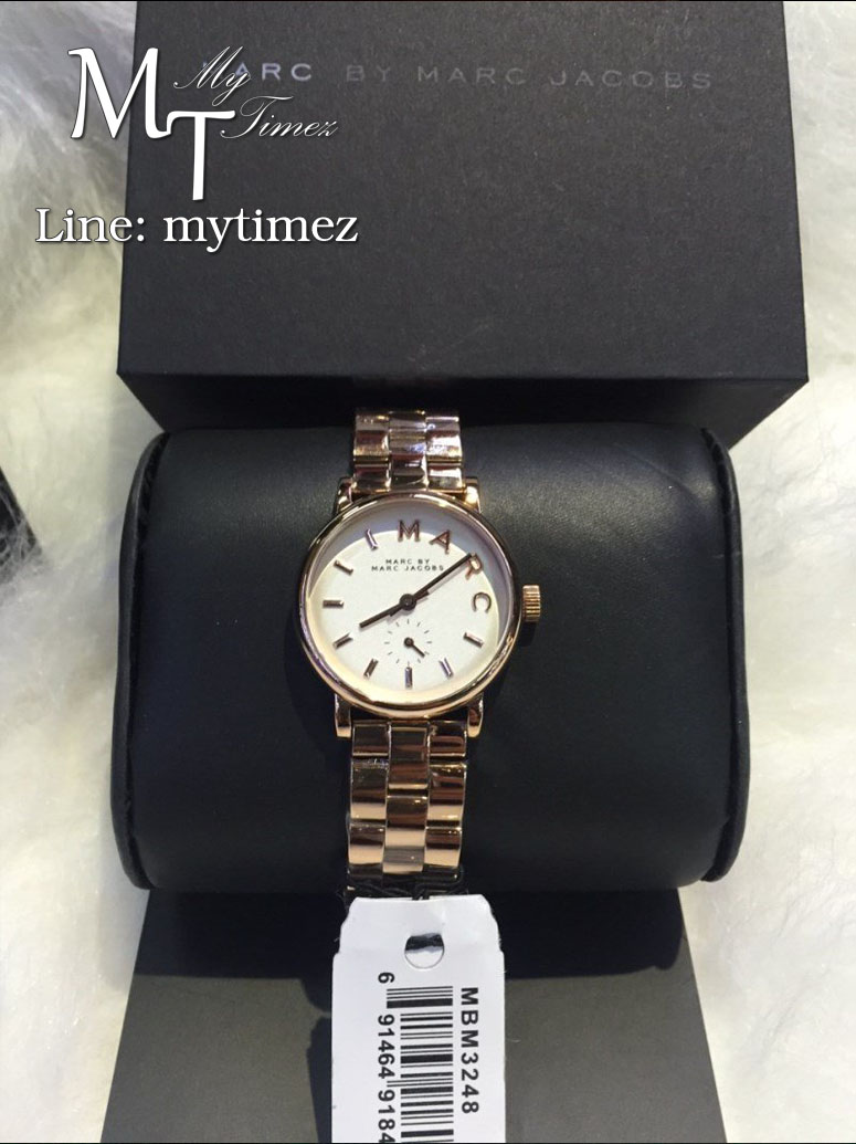 MARC BY MARC JACOBS Mini Baker White Dial Rose Gold Ladies Watch MBM3248