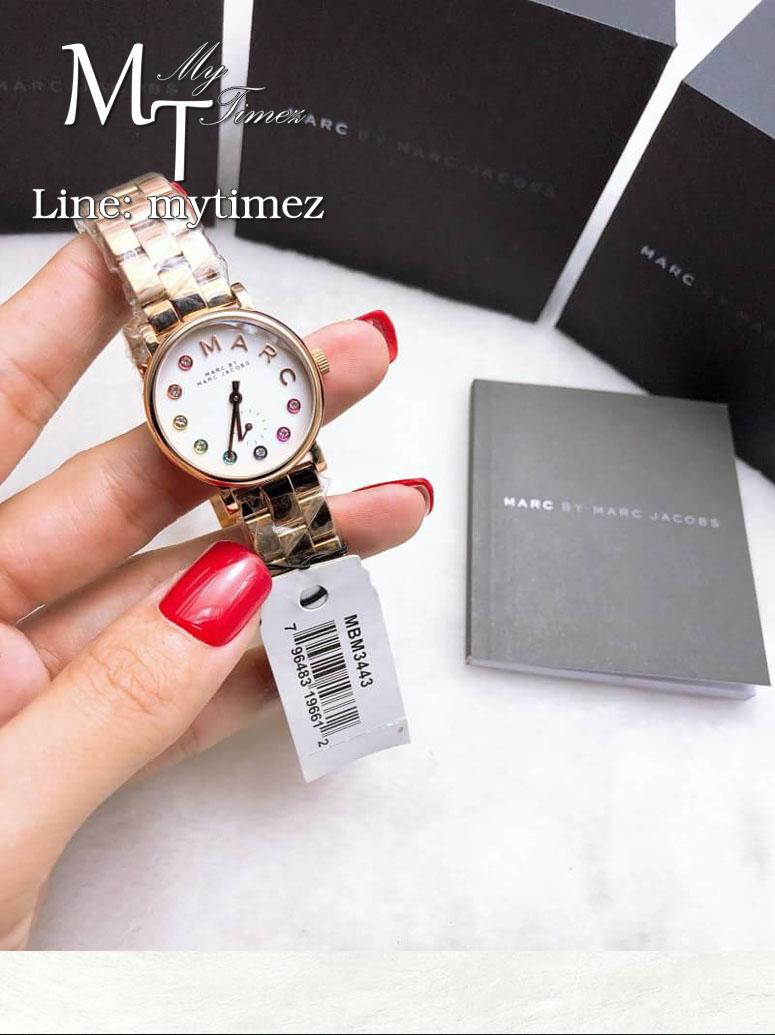 นาฬิกาข้อมือ MARC BY MARC JACOBS Baker Dexter White Dial Ladies Dress Watch MBM3443