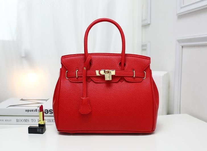 กระเป๋าสะพายข้างผู้หญิง PU Nature (สี Scarlet)