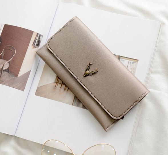 กระเป๋าสตางค์ผู้หญิง Leather 001 สีชมพู