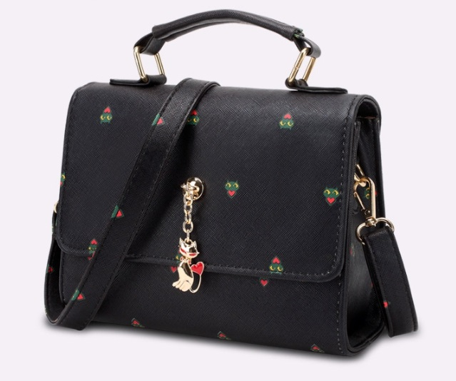 กระเป๋าสะพายข้างผู้หญิง Kit Cat (Black)