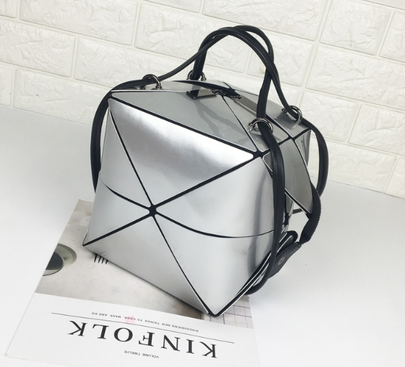 กระเป๋าสะพายข้างผู้หญิงพับได้ Fashion woman (Light Gray)