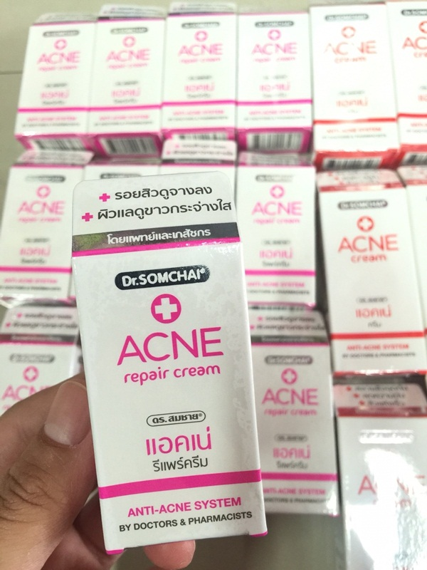Dr. Somchai Acne Repair Cream ดร.สมชาย แอคเน่ รีแพร์ ครีม