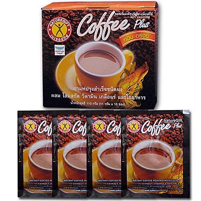 กาแฟเนเจอร์กิฟ คอฟฟี่ พลัส 10 ซอง ผสม โสมสกัด วิตามิน เกลือแร่และใยอาหาร