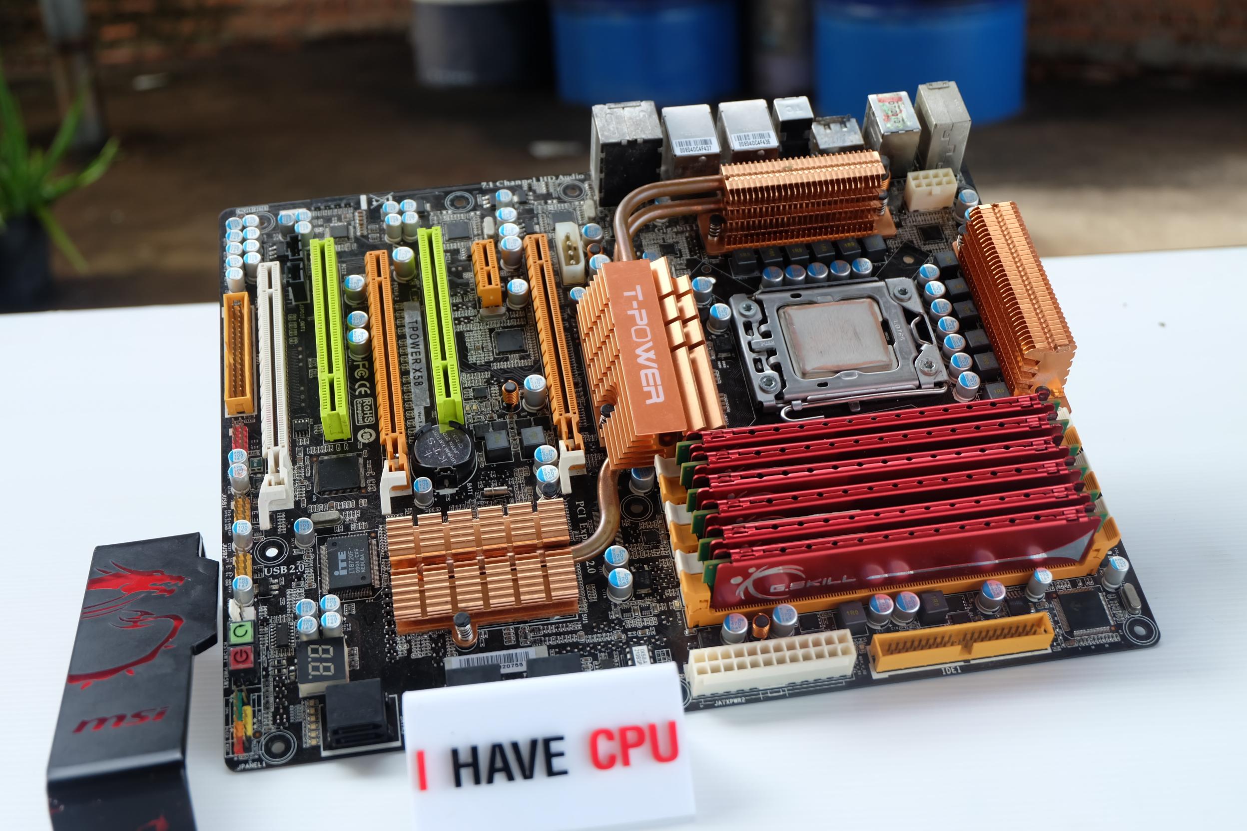 i7-920 2.66Ghz 4C 8T/ Biostar T-POWER X58 / 6GB DDR3