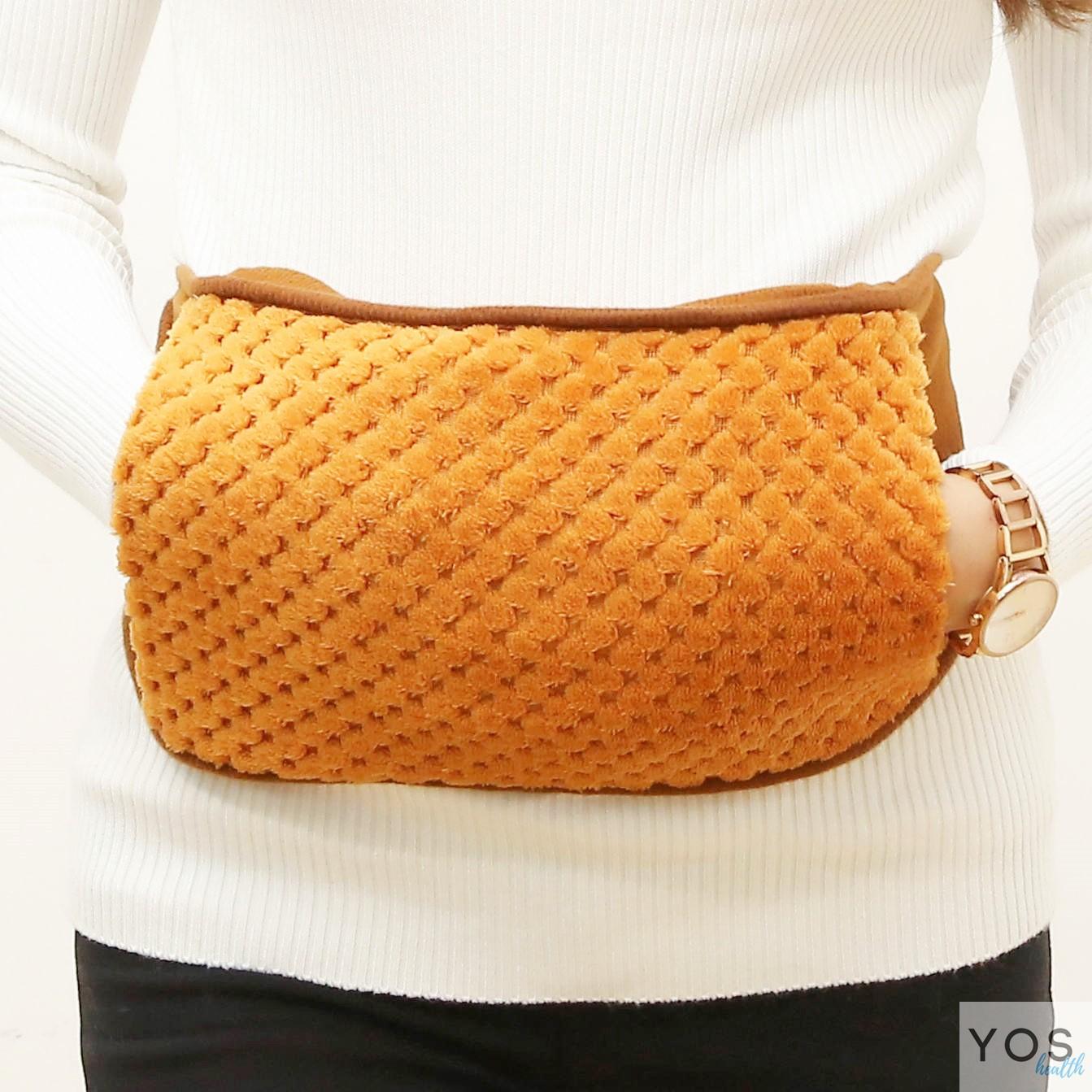 กระเป๋าน้ำร้อนไฟฟ้าคาดเอวสีน้ำตาล Y412-BR