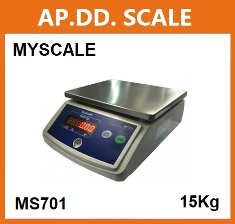 เครื่องชั่งตั้งโต๊ะ15kg/5g แท่น182x226mm. ยี่ห้อ MY SCALE รุ่น MS-701 SERIES