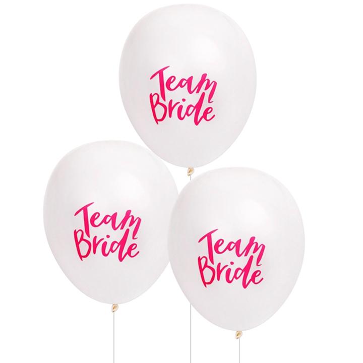 "*Bestselling* TEAM BRIDE 10"" Balloons (White)"