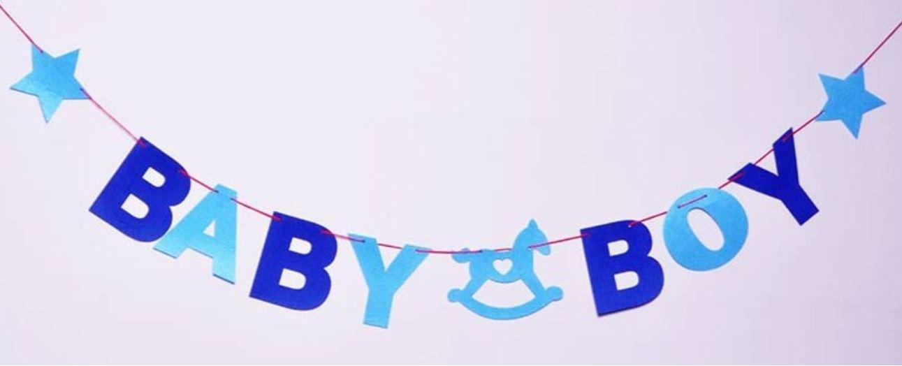 BABY BOY Bunting