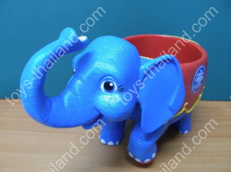 ชุดช้างรองแก้วสีฟ้า