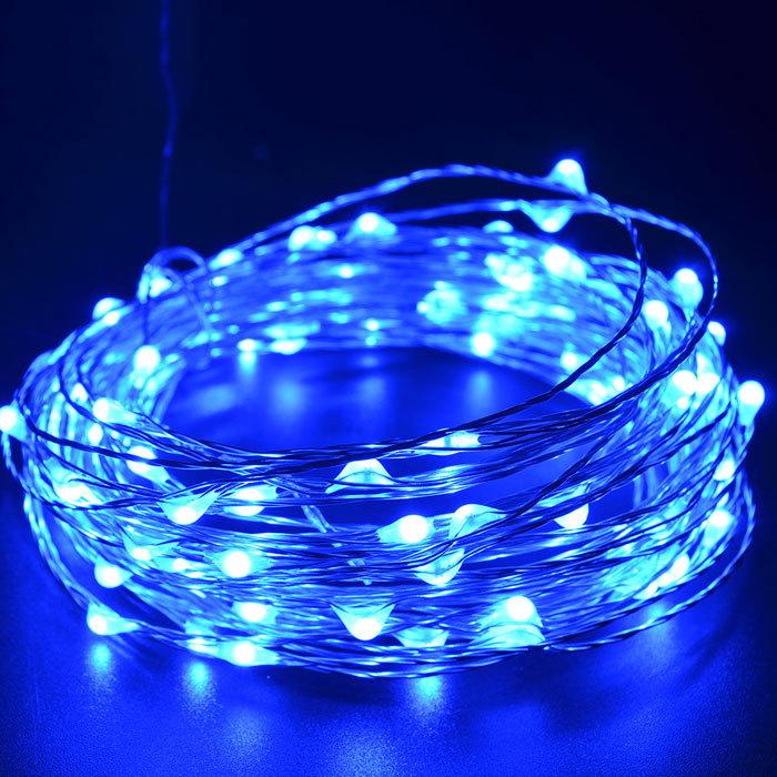 ไฟแฟรี่ ไฟลวด LED ตกแต่ง หักงอได้ ยาว 10 เมตร สีฟ้า
