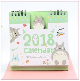 ปฏิทินตั้งโต๊ะ Totoro 2018 #โทโทโร่