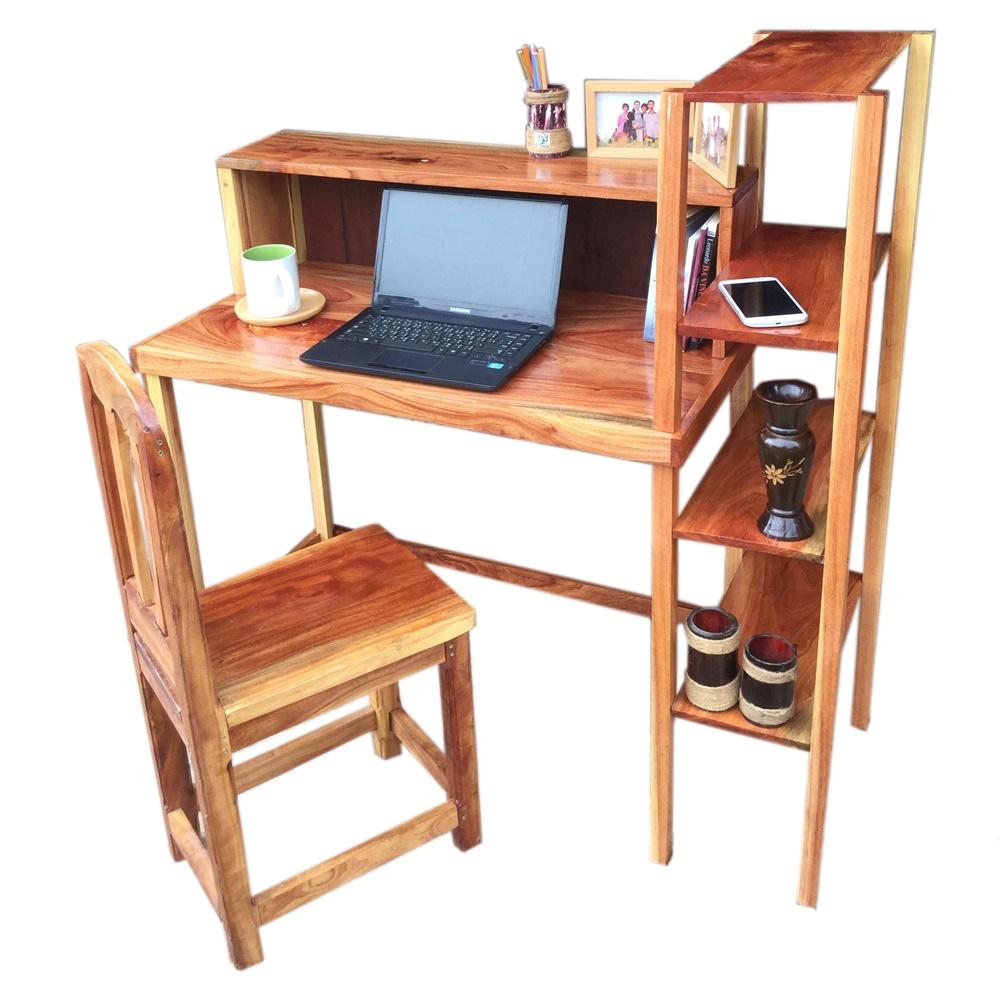 K'DAUZ ชุดโต๊ะคอมพิวเตอร์ โต๊ะเขียนหนังสือ โต๊ะทำงาน พร้อมชั้นวาง