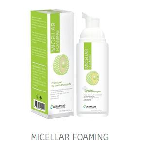 Dermcor Micellar Foaming 100 ml. มิซเซลลาร์ โฟมมิ่ง โฟมล้างหน้าสำหรับ ผิวผสมและผิวบอบบางเป็นสิวง่าย
