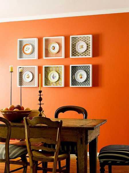 สีส้มเหมาะแก่กาใช้ในห้องอาหาร