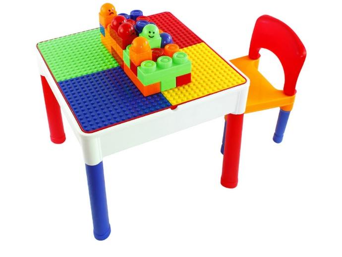 โต๊ะต่อเลโก้ 2in1 Construction Table Set + 1 เก้าอี้ + เลโก้ 30 ตัว ส่งฟรีพัสดุไปรษณีย์