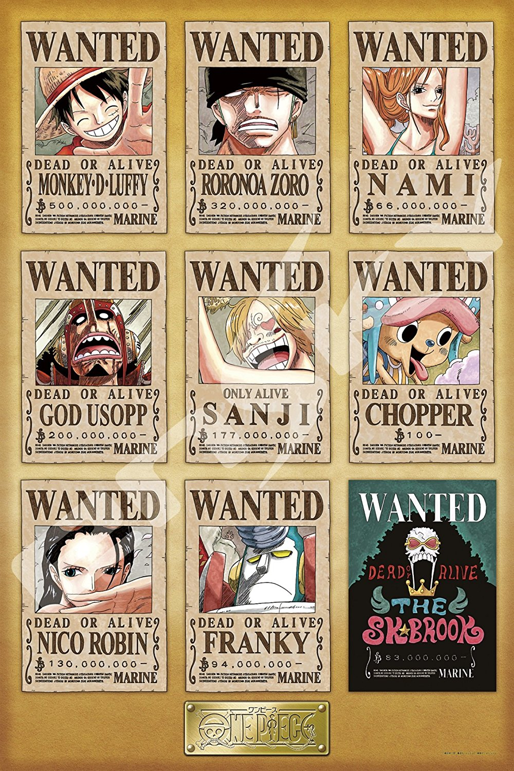 Wanted Poster Set - Jigsaw One Piece ของแท้ JP