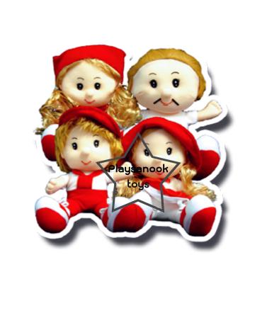 TY-5037 ตุ๊กตาครอบครัว ชุดละ 4 ตัว