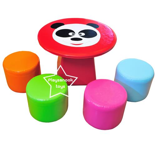 EVF-11 โต๊ะหมีแพนด้า-เก้าอี้ลูกกวาด