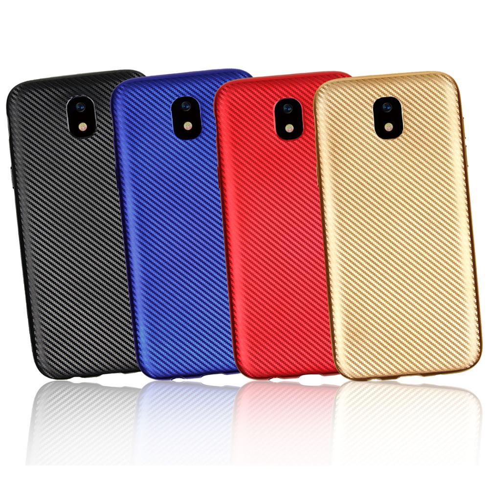 เคสมือถือ Carbon Fiber TPU สำหรับ Samsung Galaxy J7 Pro