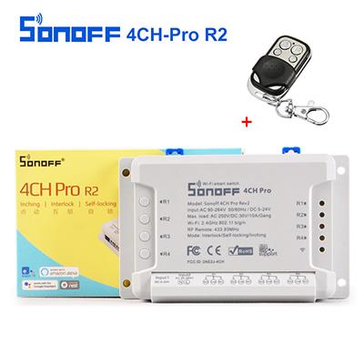 Sonoff 4CH Pro R2 ( 433 MHz) + Remote Controller