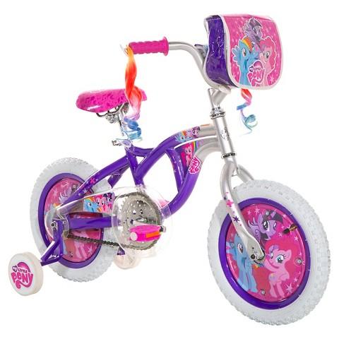 จักรยานโพนี่ 4 ล้อ Girl My Little Pony Bike - Purple/Silver ล้อกว้าง 14 นิ้ว