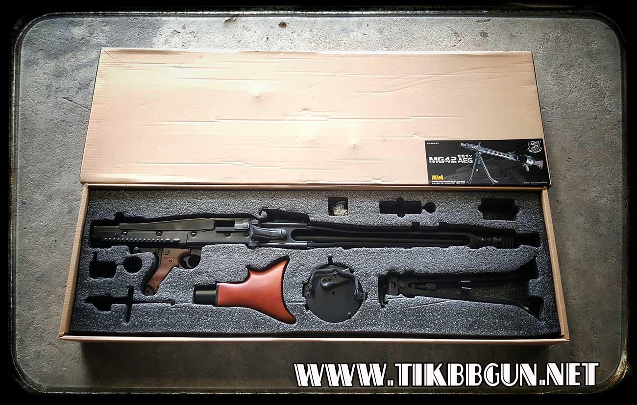 ปืนกลหนักไฟฟ้า MG42 เหล็กจริง ไม้แท้ จาก AGM
