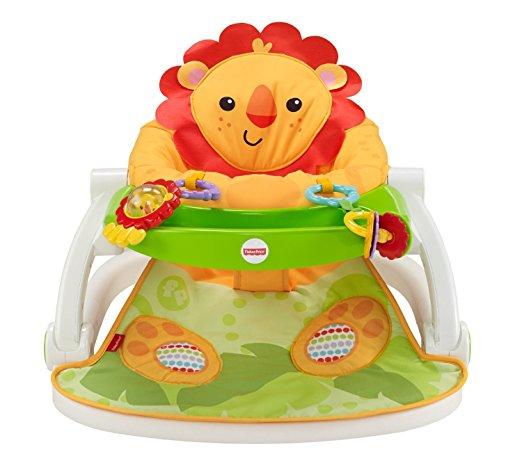 เก้าอี้ฝึกนั่ง พร้อมถาด Fisher Price Sit-Me-Up Floor Seat with tray – Lion ลายสิงโตหน้าหวาน