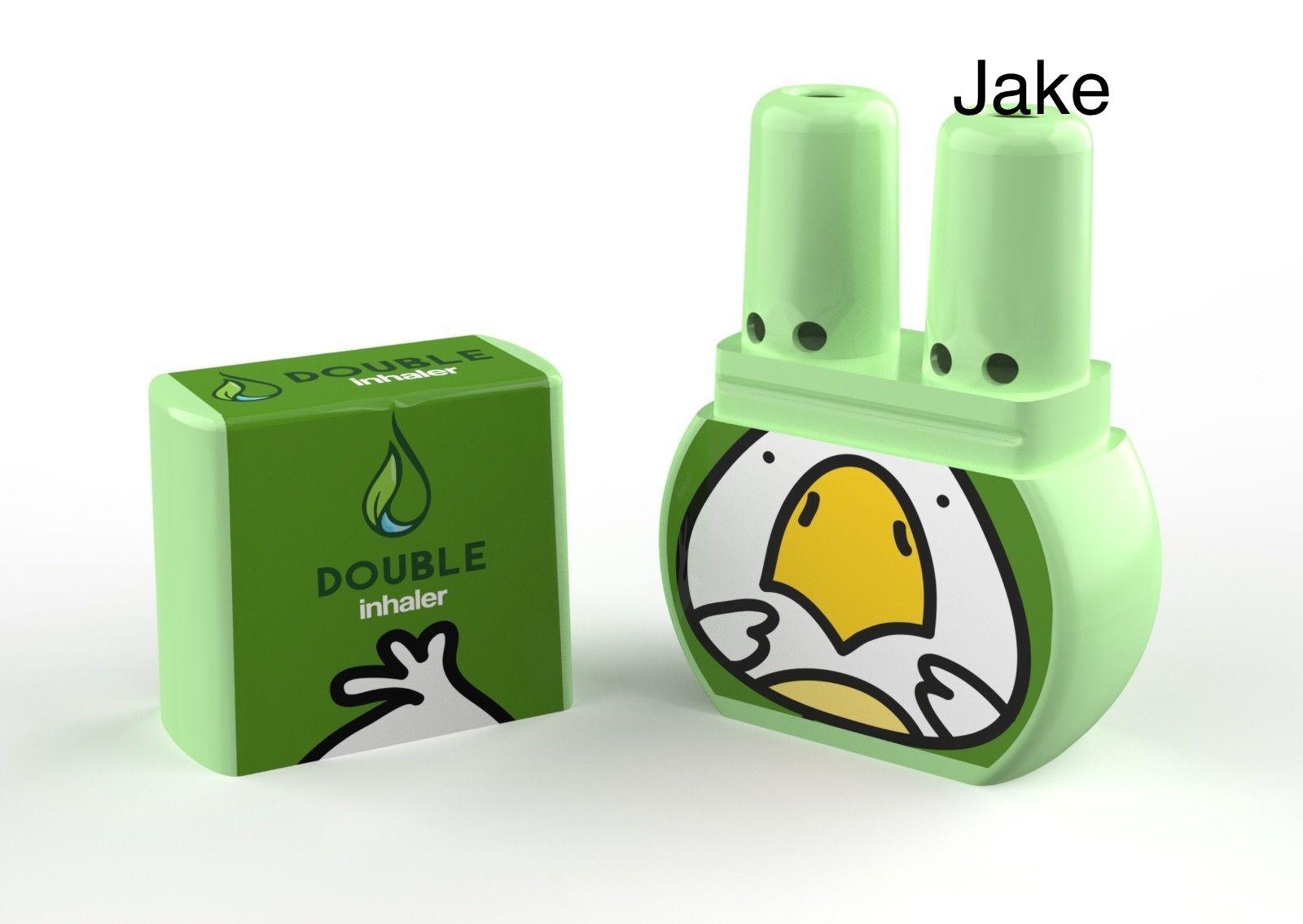 ยาดมดับเบิ้ล แบบ 2 รูดม หอม .. สดชื่น ไม่เหมือนใคร ลาย Jake (ไก่น้อย)