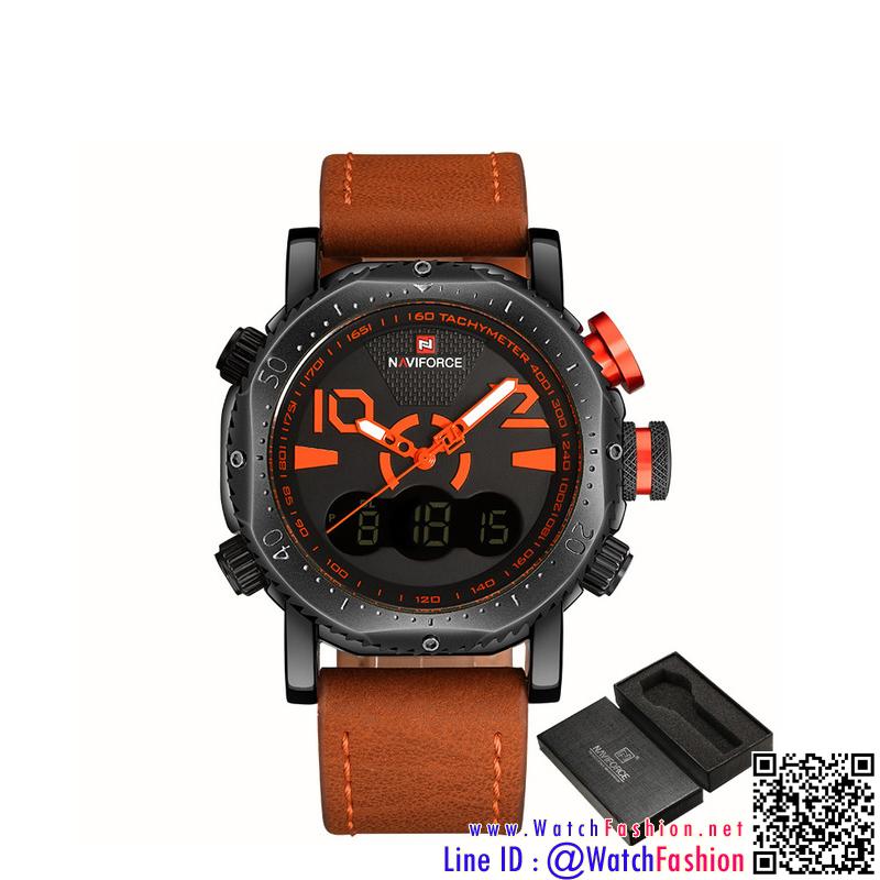 นาฬิกาข้อมือแฟชั่นนำเข้า ผู้ชาย NAVIFORCE NF9091 สองระบบ แบบ BOL BN