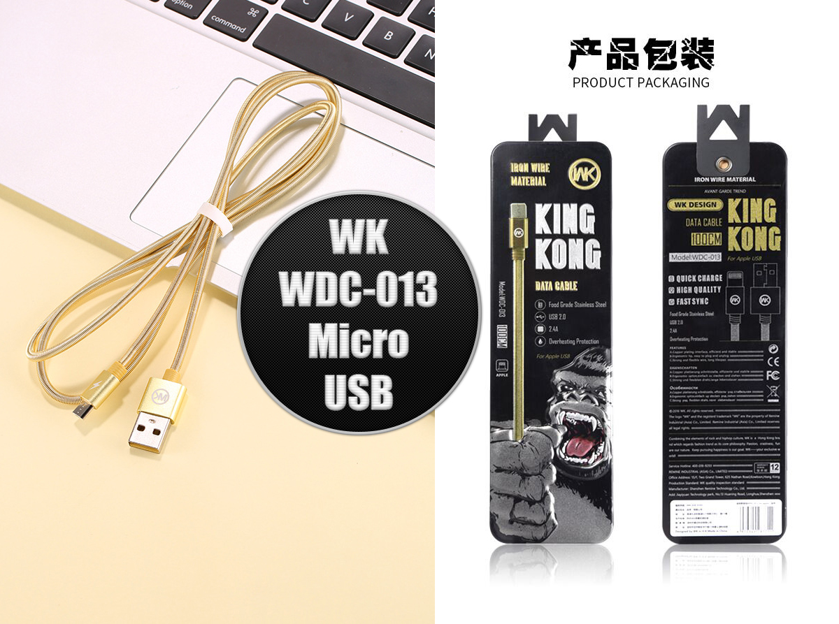 WK KINGKONG WDC-013 Micro USB charger cable