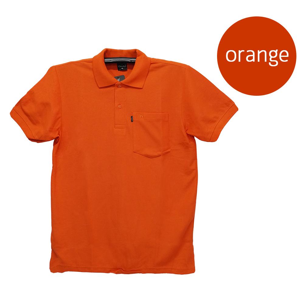 เสื้อโปโลชายสีส้ม