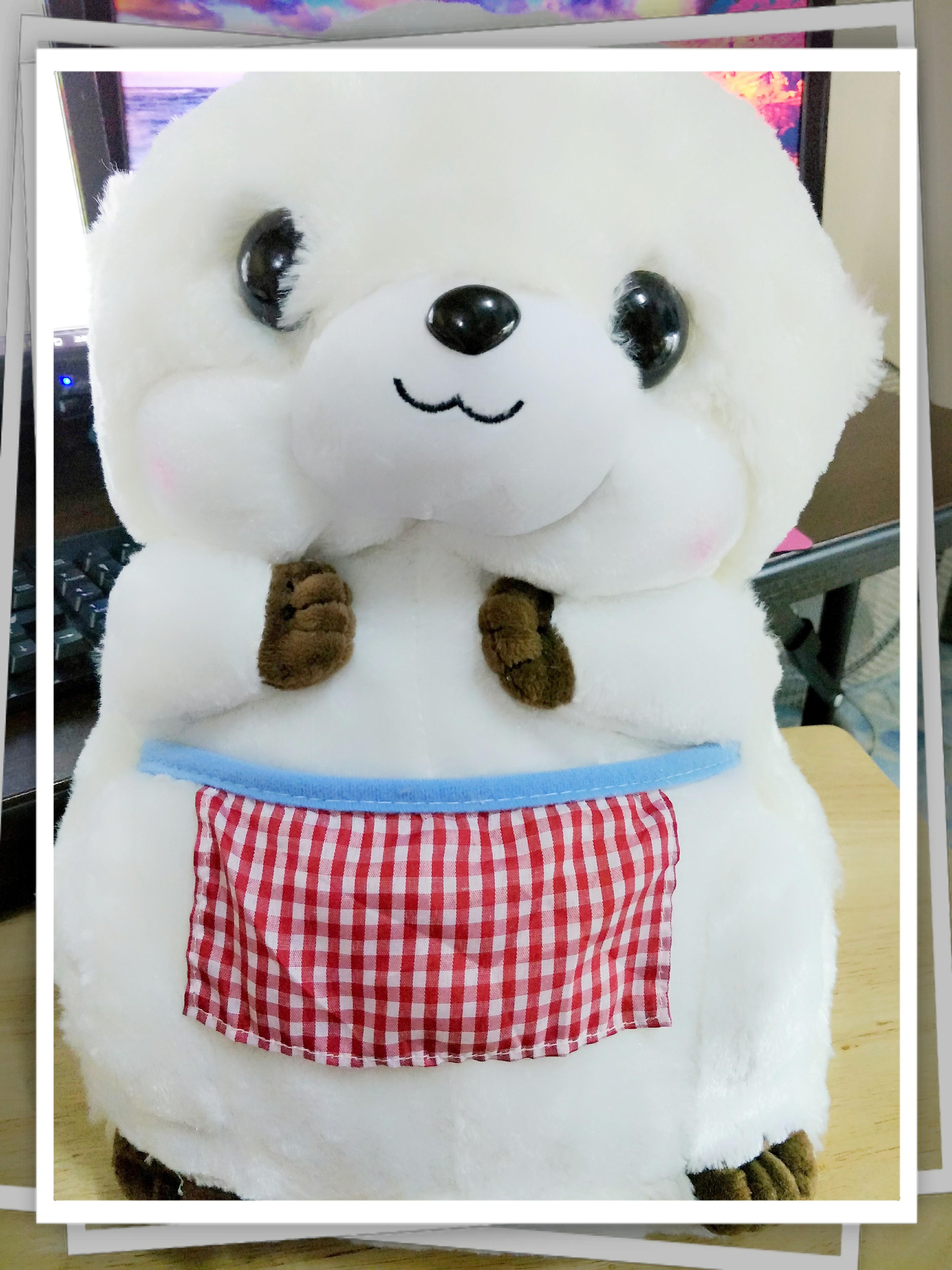 SC0004 Free ปักชื่อบนผ้าห่ม!! ตุ๊กตาหมอนผ้าห่มบีเวอร์ สีขาว น่ารักมากๆ ตัวใหญ่พอดีกอด ผ้าห่มอุ่นมาก
