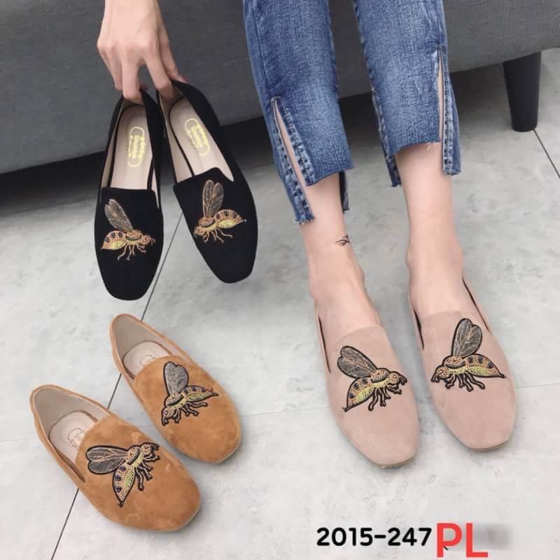 รองเท้าแฟชั่น ผู้หญิง PL khaki 2015-247