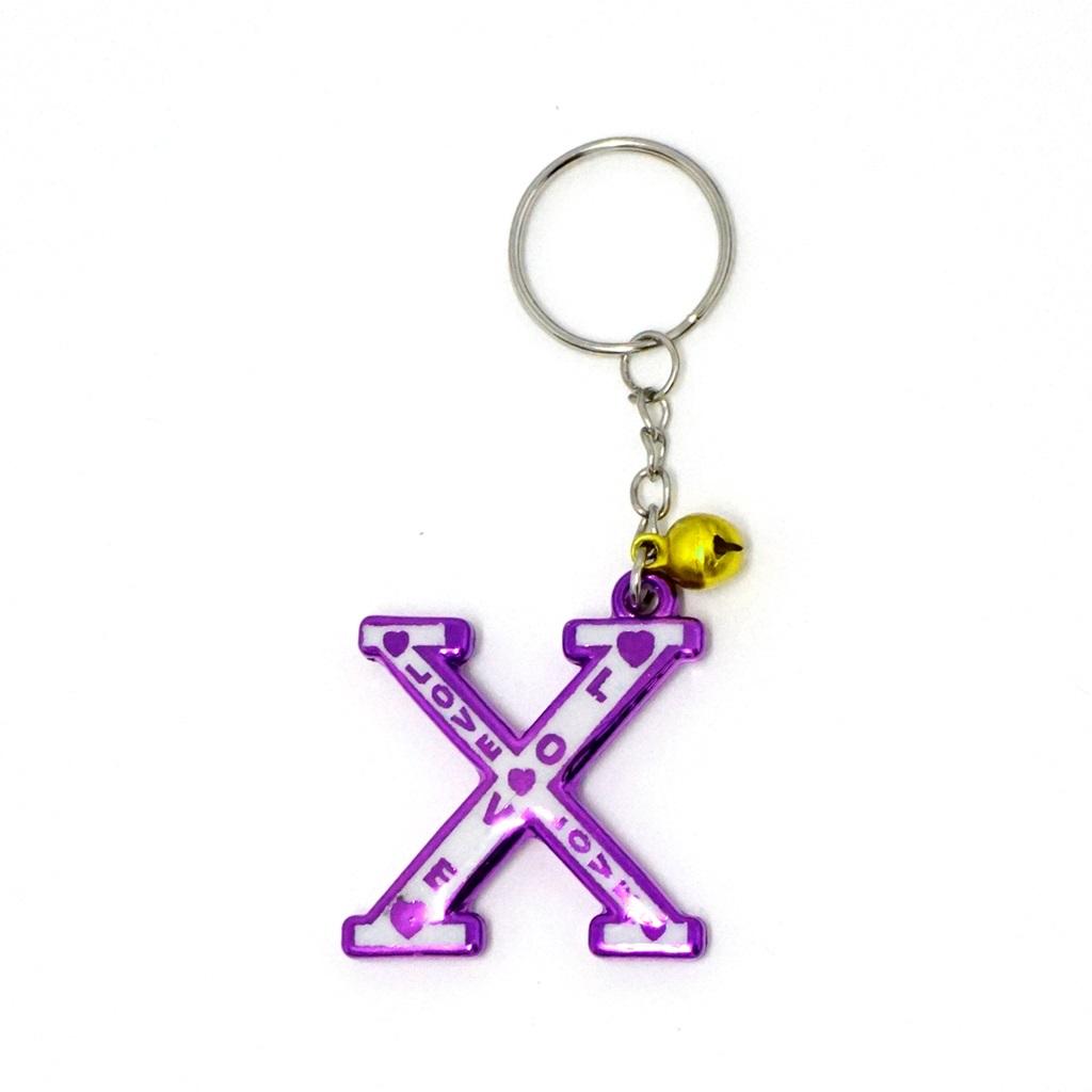 พวงกุญแจตัวอักษร X 12อัน